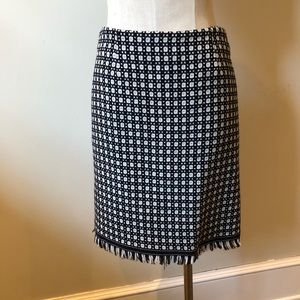 Black and white wool knit skirt. Lined. Size 4